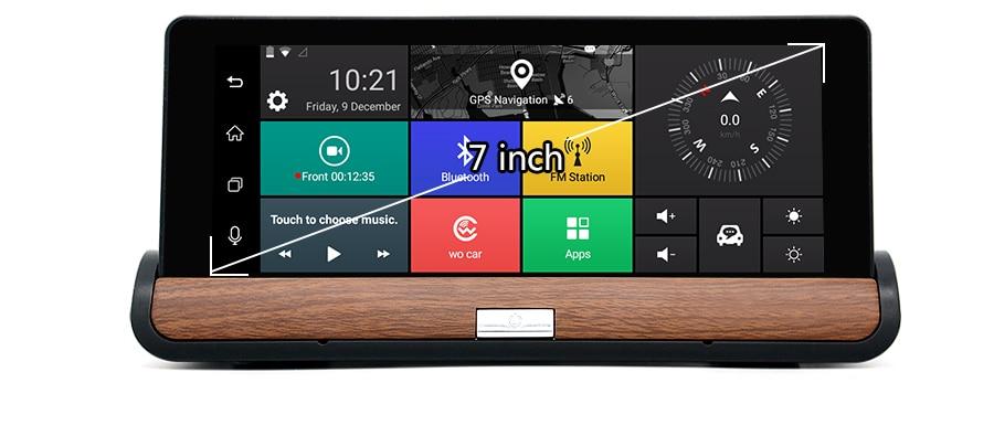 Junsun 3G 7 inch Car DVR GPS Navigation Android 5.0 Bluetooth wifi Automobile with Rear view camera Navigators sat nav Free maps