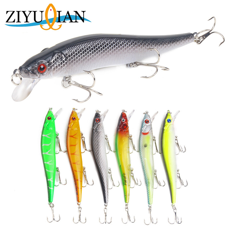 1Pcs Minnow Fishing Lures Hard Bait 11.5cm 15g Jig Wobblers Bass Pike Lure Plastic Artificial Baits for Fishing Tackle Crankbait hee grand inner increased winter ankle boots warm fringe fashion platform women snow boots shoes woman creepers 3 colors xwx6180