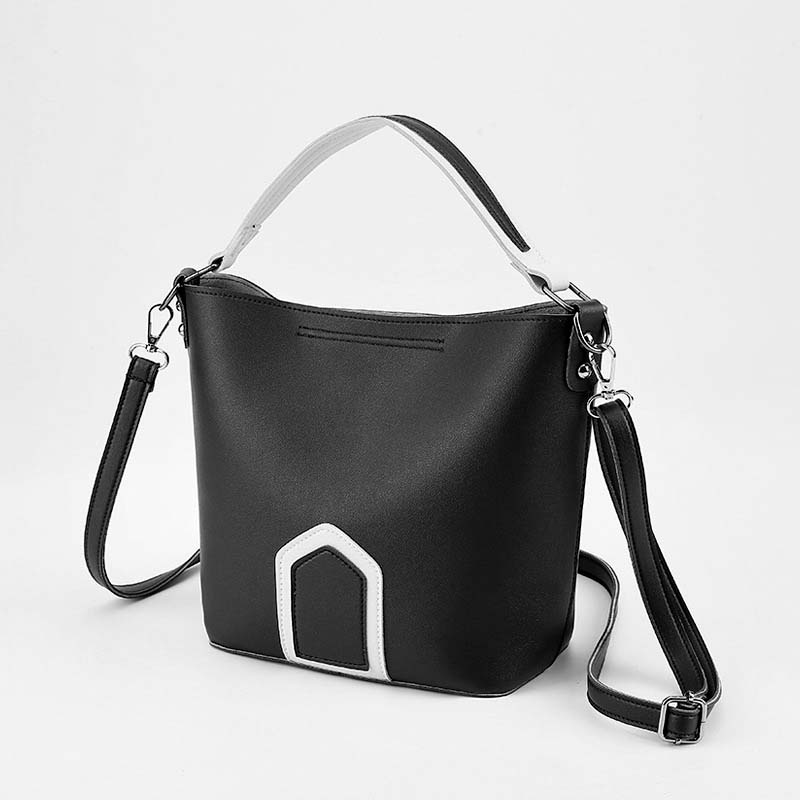 Luxury Brand Tote Bag Contrast Color PU Leather Shoulder Bag Famous Designer Women Handbags Small Square Bags 2