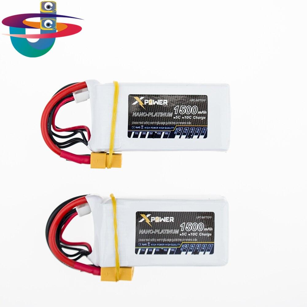 1500Mah 14 8V 4S 45C Lithium Li po Battery XT60 Plug 2pcs For font b RC