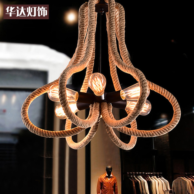 The Retro Dining Room Lamp Bar Cafe Long Rope Chandelier Personality