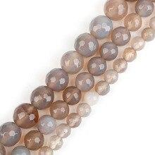 9ba949e5d68d 4 6 8 10mm diámetro facetadas Piedra Natural Onyx bola redonda perlas para  joyería hacer DIY