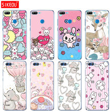 Silicone Cover phone Case for Huawei Honor 10 V10 3c 4C 5c 5x 4A 6A 6C pro 6X 7X 6 7 8 9 LITE rabbit elepant cute pink(China)