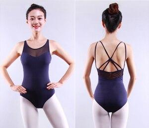 Image 3 - Justaucorps au dos pour femmes, vêtements de danse pour adultes, ensemble Sexy de gymnastique au dos, nouveauté 2020
