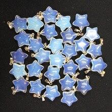 Hurtownie 50 sztuk/partia moda dobrej jakości opal kamień pięciogwiazdkowy charms zawieszki dla DIY tworzenia biżuterii 50 sztuk/partia darmowa wysyłka