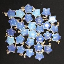 Toptan 50 adet/grup moda kaliteli opal taş beş yıldızlı takılar kolye DIY takı yapımı için 50 adet/grup ücretsiz kargo