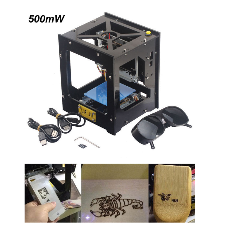 500mW USB Laser Engraver Box/Laser Engraving Machine/DIY Laser Printer
