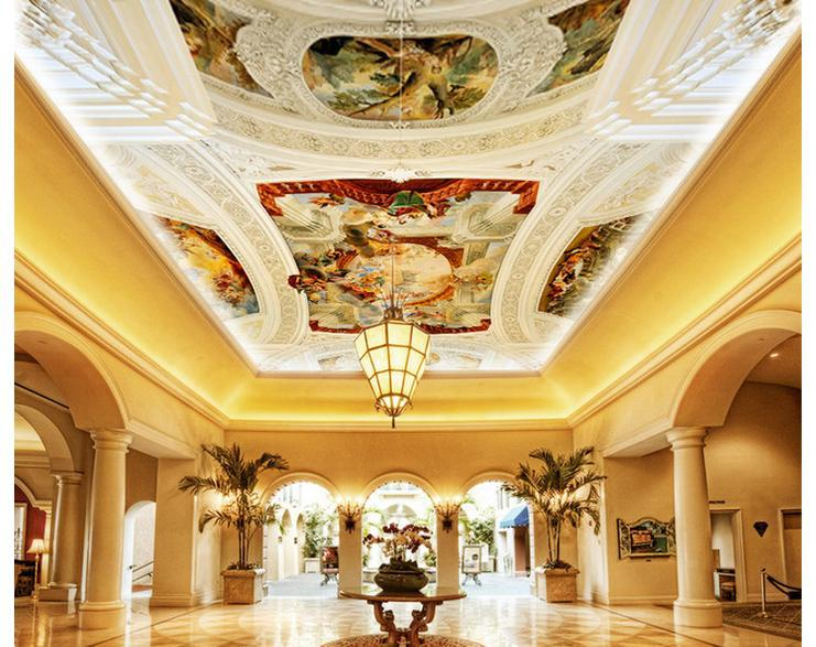 Online get cheap ceiling wallpaper designs for Cheap ceiling designs