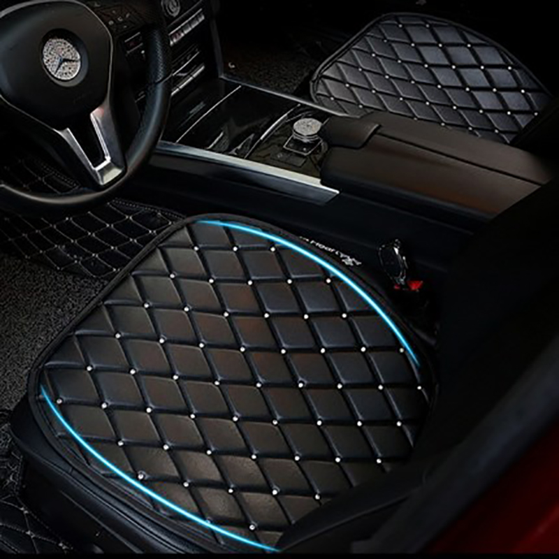 Leather Crystal Diamond Car Seat Cushion Covers For Women Girls Universal Size Safety Car Seat Protector Interior Accessories цена