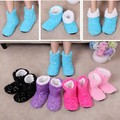 Free Shipping Girl Floor Shoes Sequins Love velvet Indoor Floor slippers Women Home Shoes, Sequin Heart Home Ankle Soft Sole