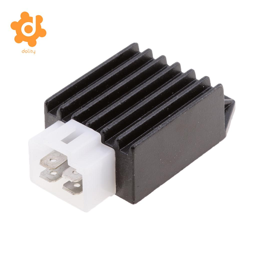 Voltage Regulator Rectifier ATVs Gokarts Buggie with GY6 Motor 50cc to 150cc Universal 4 Pin 12V Male Plug Voltage Rectifier for Scooter Moped