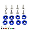 Fender Washers (10 Pcs) washers and bolt Aluminum for Honda Civic Integra RSX EK EG DC/YC100226