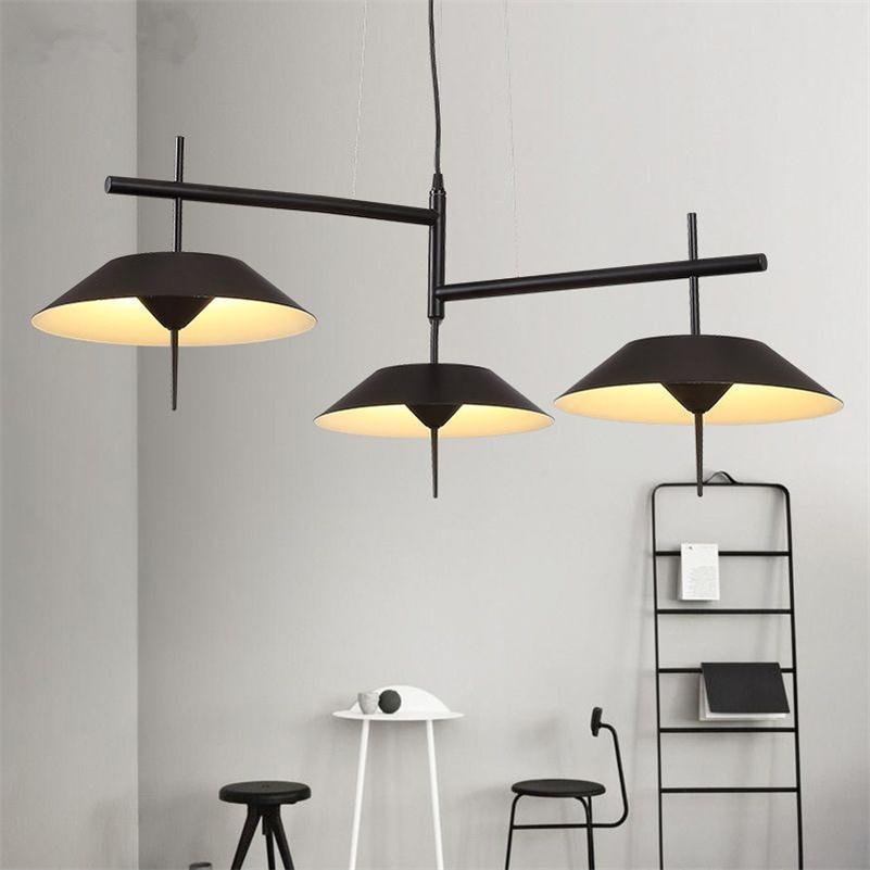 Modern LED Pendant Lights For Dining Coffee Room Nordic Pendant Lamps White Black Hanging Lamps Wrought Iron Suspension Lighting nordic iron pendant lights lamps d35cm metal hanging light dining room kitchen home house light white black suspension lamp