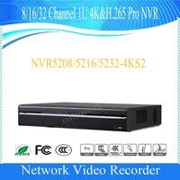 Сетевой видеорегистратор DAHUA 8/16/32CH 1U 4 K и H.265 поддержка NVR 2HDD Onvif DHI-NVR5208-4KS2/DHI-NVR5216-4KS2/DHI-NVR5232-4KS2