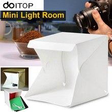 מצלמה ניידת DOITOP צילום סטודיו צילום 9 אינץ חדר אור LED ערכת אוהל תאורה רקע מיני אביזרי תיבת Softbox #3