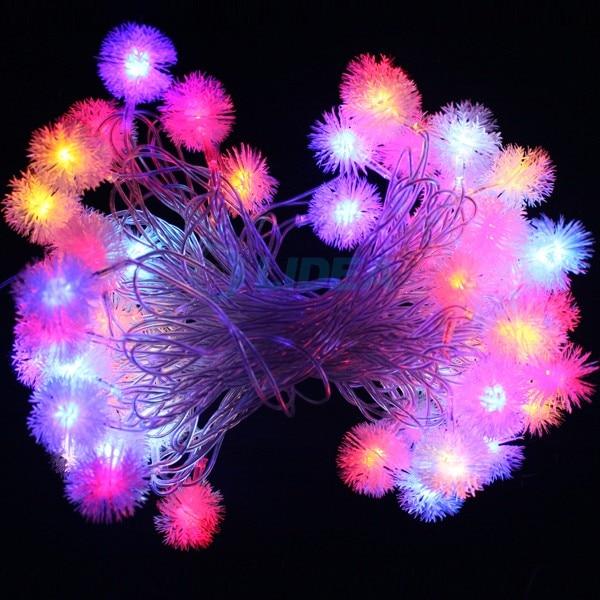9M 50 LED Snowflake Garden Dom Nowy Rok Xmas Girlanda LED Dekoracja - Oświetlenie wakacje - Zdjęcie 2