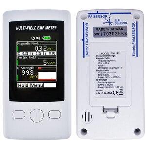 Image 4 - Detector de radiación electromagnética multicampo, medidor EMF, Gauss, 3 ejes, campo RF eléctrico magnético, Digital, TM190
