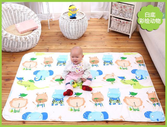 1 pic 3 camadas de guardanapos de algodão colchão Inflável colchão fralda fraldas para recém-nascidos Fralda mudança Do Bebê mat 110*158 TND7