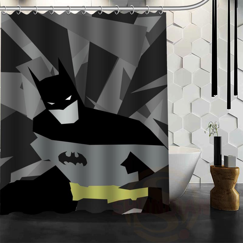 Best Nice Custom Batman Shower Curtain Bath Curtain Waterproof Fabric Bathroom MORE SIZE WJY&19