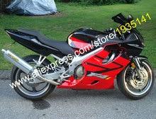 Горячие продаж, Для Honda CBR600 F4i 2004 2005 2006 2007 CBR 600 F4i 04 05 06 07 красный черный мотоцикл обтекатель комплект ( литья под давлением )