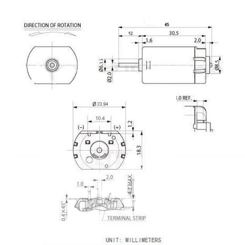 2 stücke FC 280PC Dc 12 Volt Motoren Hohe Geschwindigkeit, Micro ...