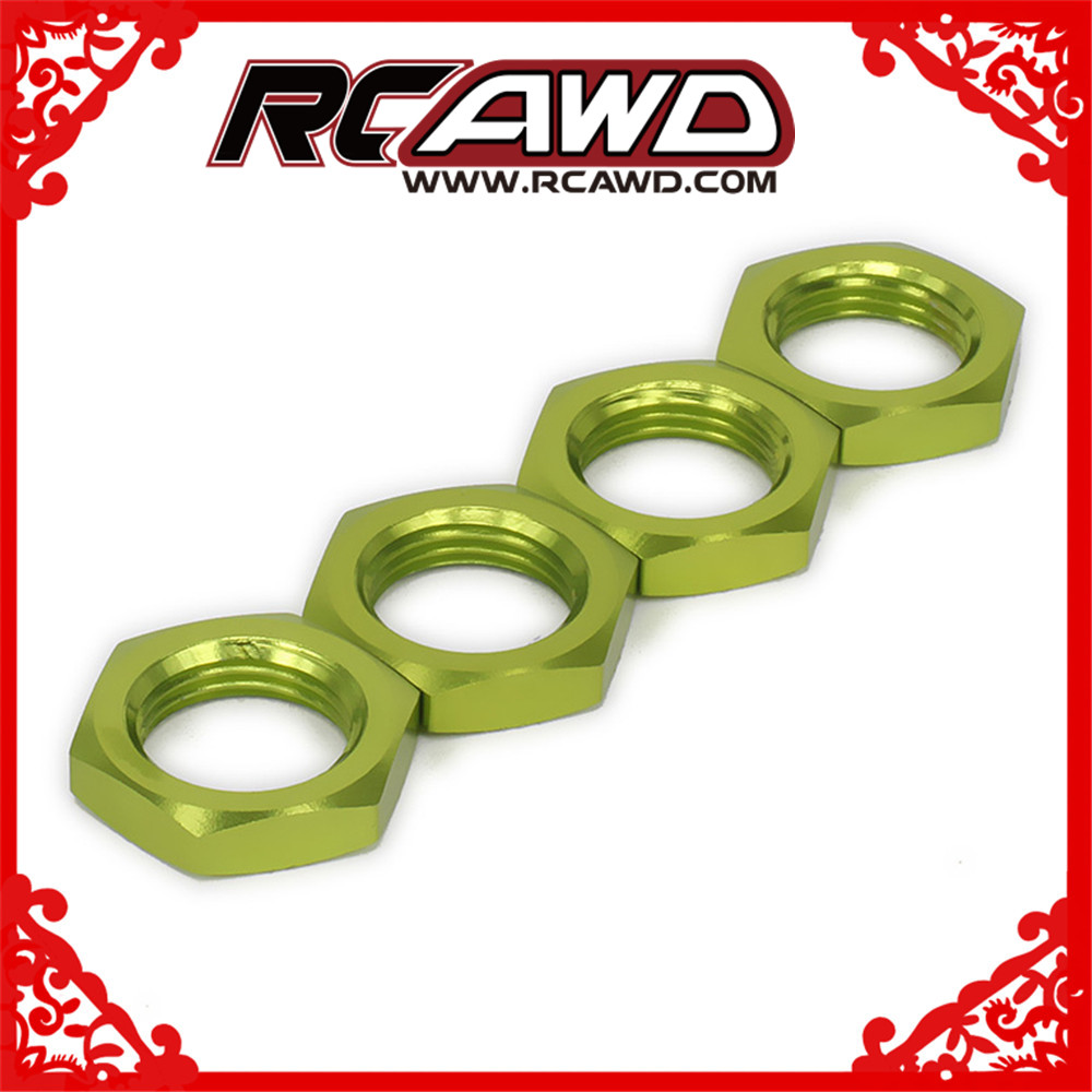 M17 <font><b>17mm</b></font> <font><b>Wheel</b></font> Hex Hub Nut x 4 Fine 12mm Metric Thread 1mm 1.0mm For <font><b>1/8</b></font> <font><b>RC</b></font> Model Car Upgraded Hop-Up Parts HSP AXIAL FS HIMOTO image