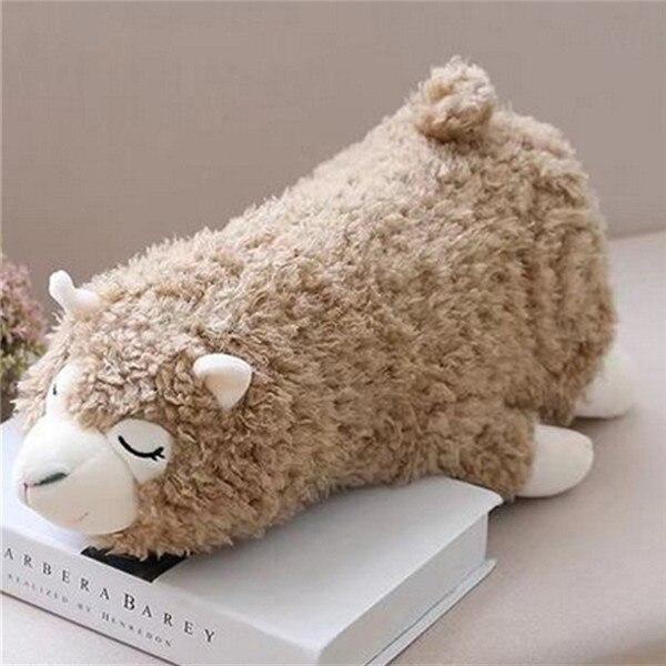 Fancytrader милые мягкие животные плюшевая игрушечная Альпака мягкая большая подушка овечка кукла белый и серый 60 см 24 дюйма хорошие подарки - Цвет: gray