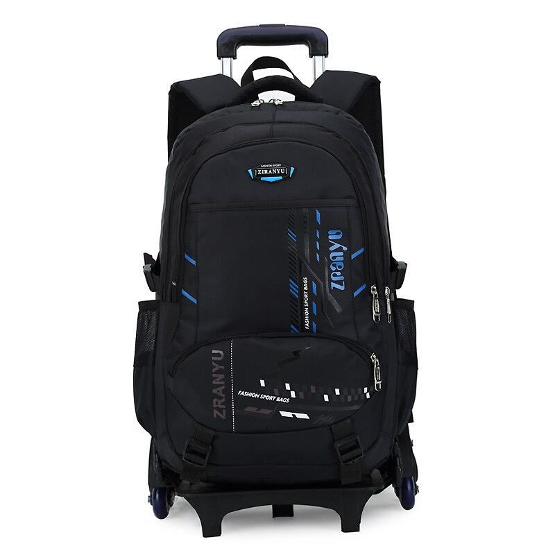 BeaSumore High capacity Student Shoulder Backpack Rolling Luggage Children Trolley Suitcases Wheel Cabin Travel Bag School