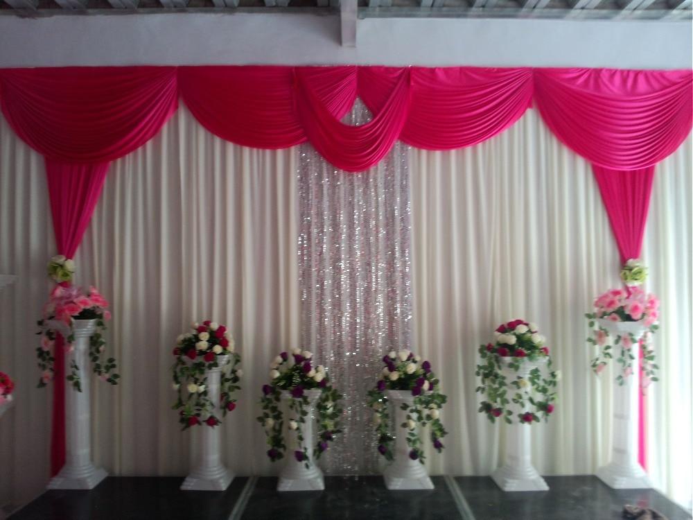 NEW Designed font b Wedding b font font b Backdrops b font with luxurious Rose carmine