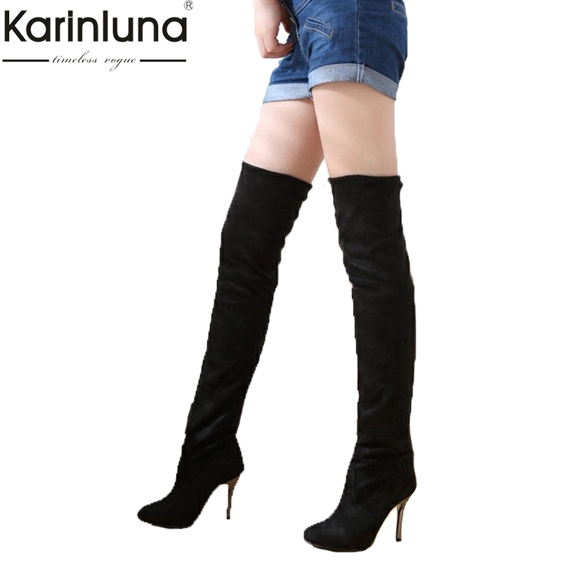 KARINLUNA brand new dropship big size 43 sexy womens party prom Boots Shoes thin high heels over the knee Boots shoes womanKARINLUNA brand new dropship big size 43 sexy womens party prom Boots Shoes thin high heels over the knee Boots shoes woman