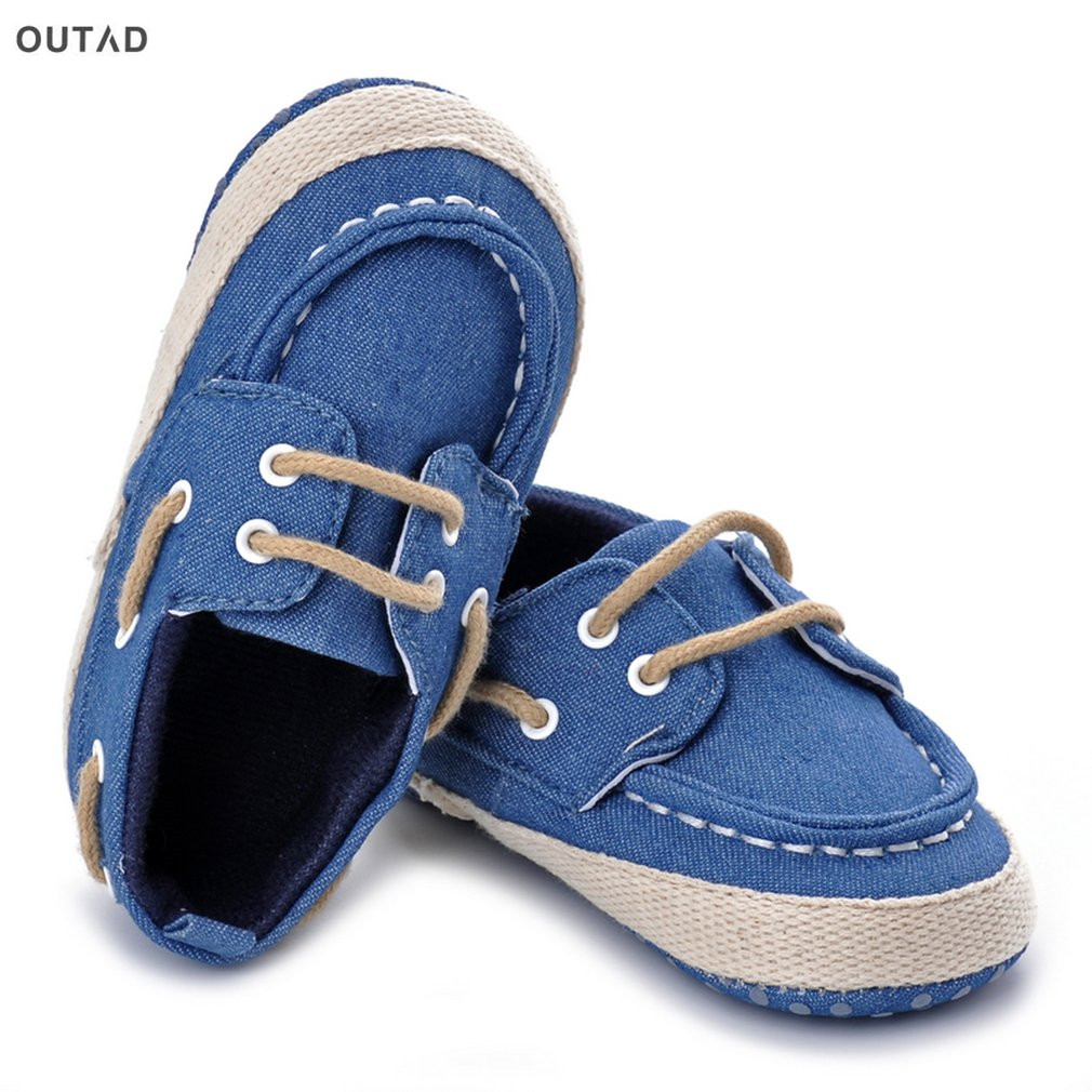 OUTAD New Baby Shoes Breathable Shoes First Walkers Lace-up Flat Shoes Infant Toddler So ...