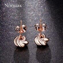NEWBARK Cute Twist Love-knot Stud Earrings Rose Gold Color Earings Fashion Jewelry Women Korean Style Design