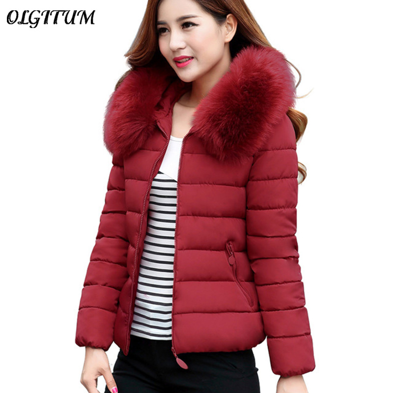 2017 Womens Winter Jackets And Coats  Faux Fur Collar Hooded Warm Parkas For Women Winter Coats Female Manteau Femme womens winter jackets and coats 2016 thick warm hooded down cotton padded parkas for women s winter jacket female manteau femme