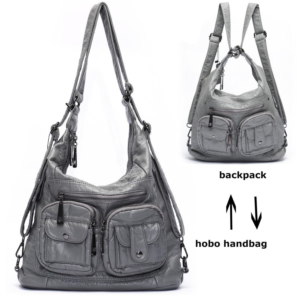 کیف شانه چرم نرم PU چرم برای زنان بزرگ - کیف های دستی