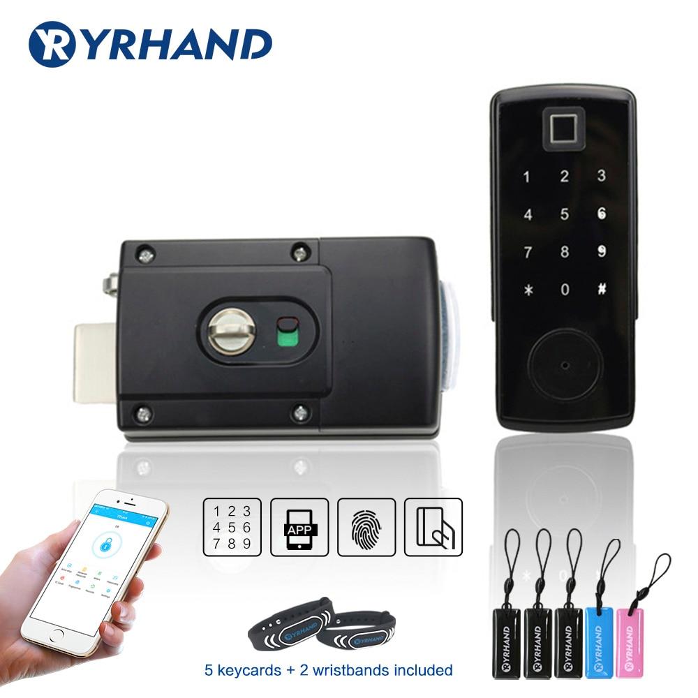 Electronic Door Lock Digital Door Lock Smart Bluetooth APP Keyless Keypad Code Password Door Lock