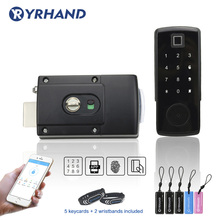 Serrure de porte électronique avec application TTlock, serrure de porte intelligente numérique, avec clavier sans clé, application Bluetooth, Code à mot de passe