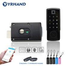 Электронный дверной замок с приложением TTlock, цифровой умный дверной замок, Bluetooth приложение, клавиатура без ключа, кодовый дверной замок