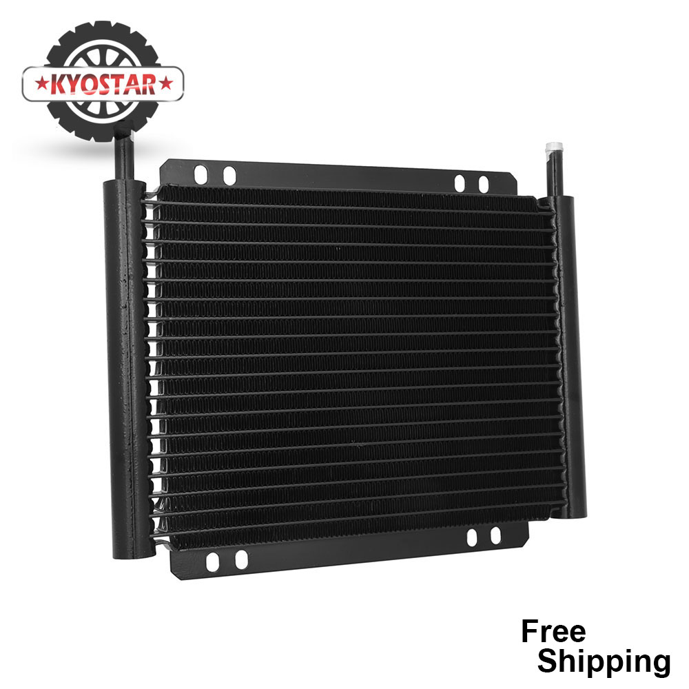 aluminium oil cooler 8000 type plate fin transmission oil cooler 13Row 19Row automatic stacked plate oil