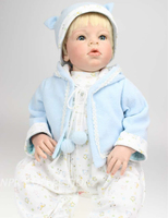 28 дюймов большой ручной работы Популярные Малыш Reborn корни волос платье куклы до мальчик игрушки куклы подарок для продажи