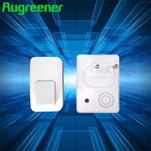 Augreener 433MHz Kinetic Wireless Doorbell No Battery AC 240V Home Door Bell 38 Ring Tones Waterproof High Quality Dingdong Ring