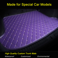 Specially for Cadillac CTS 2/4 doors SLS SRX XTS ATS Escalade Car Trunk Mats Carpets Waterproof Customized Trunk Rugs