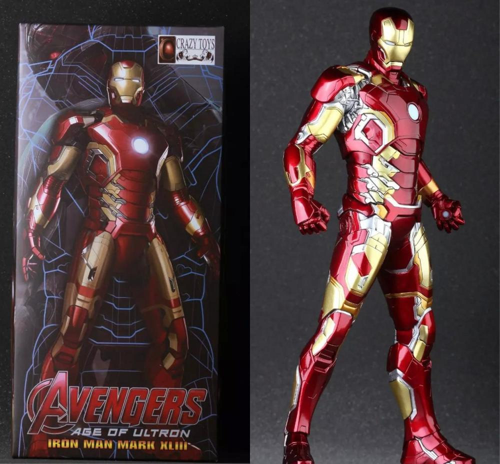 Crazy Toys Avengers Age of Ultron Iron Man Mark XLIII MK 43 PVC Action Figure Collectible Model Toy 12 30cm zy051