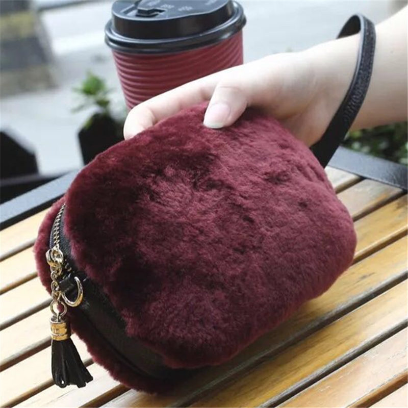 Fashion Brand casual shoulder bags women small messenger bags ladies fur design handbag with tassel female crossbody bag E67