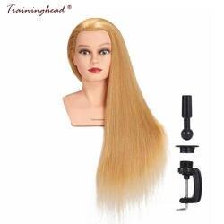 """Traininghead 26-28 """"100% человеческих волос Парикмахерские Учебные головы-манекены салон плетение парик Манекен головы Обучение Кукла начальник"""