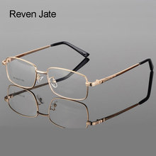 Reven Jate Prescription Alloy Optical Eyeglasses Frame with 4 Optional Colors For Eyewear Free Assembly with Prescription Lens