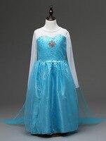 패션 싼 여자 할로윈 의상 긴 소매 보라색 블루 여왕 엘사 드레스