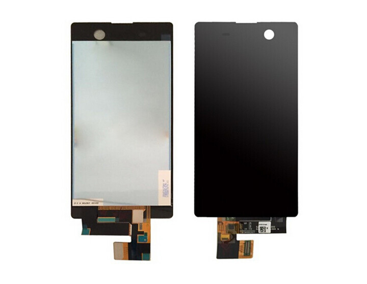 ФОТО 30 Pcs/lot For Sony Xperia M5 New Mobile Phone Lcd Display With Touch Screen Digitizer Assembly Black/white Free Dhl Shipping