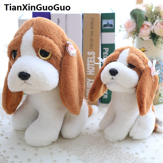 85f07b93f7f4 new arrival lovely brown puppy plush toy cartoon dog with long ears soft  doll birthday gift s0188