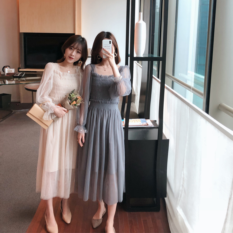 Spring and autumn fashion summer maternity dress maternity dress long sleeve gauze skirt in Dresses from Mother Kids