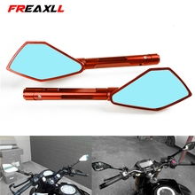 Universal Motorcycle Rearview Side Mirrors For KTM DUKE 125 200 390 690 790 990 duke RC 200 390 all years Super DUKE RC125 RC200 for motorcycle integrated turn signal mirrors side rearview mirror front back led universal for ktm 125 200 390 duke rc125 200 3